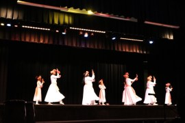 "First Baptist Church Liturgical Dance Ministry performs ""Hallelujah to the King of Glory."""