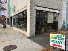 The farmer's market has a new location this year: 54 E. Main St., next to First Congregational Church.