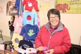 Lulu Bovier of Westhampton, owner of Lulu Knits.