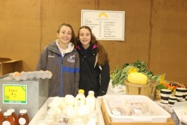 Alex, left, and Olivia Goodale, daughters of Goodale Farms owner Hal Goodale, a dairy, livestock and produce farmer in Aquebogue.