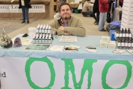 David Falkowski of Open Minded Organics, a hemp grower in Bridgehampton, offering Cannabidiol (CDB) oils for pain and anxiety relief.