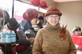Yarn-maker and designer Peggie Ehlers of Nuna Knits is a Riverhead Farmer's Market veteran.
