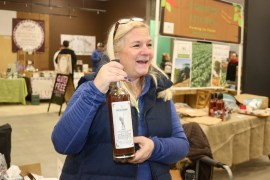 Kathy Everson of Springbrook Hollow Farm Distillery, a small batch distillery in upstate Queensbury.