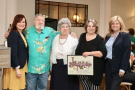 Councilwoman Catherine Kent, Harry Wilkinson, Angela DeVito, Laurie Downs and Councilwoman Jodi Giglio