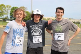 Michael Burns, left, Benjamin Catanzaro and Bryan Knipfing, were the top three finishers.