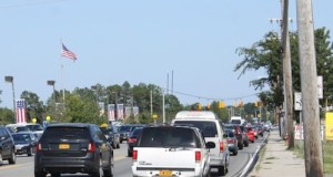 Traffic on Route 58 near Kroemer Avenue this past weekend. (Photo: Peter Blasl)