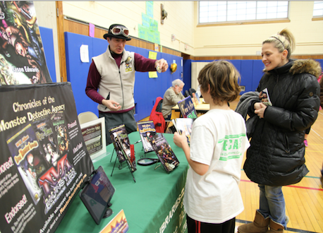 """Mark Burns, who won first place in 2015 at the Brookhaven National Lab Science Fair, will be there again this year. His experiment entitled """"Storm Troopers"""" won first place in the third grader section of the Riley Avenue Science Fair."""