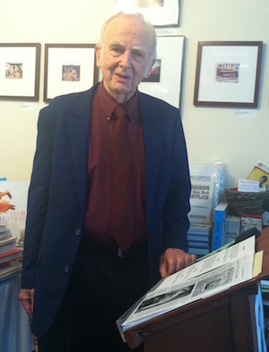 Dr. William Walter at Canio's Books. Photo: Karl Grossman