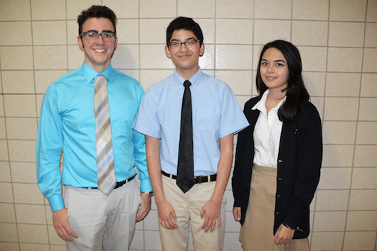 McGann-Mercy students Brandon Vassallo '17, Daniel Fortmann '19, and Carla Fortmann '18 are each enrolled in competitive pre-college programs at Stony Brook University and the New School College of Performing Arts. Courtesy photo.