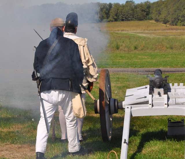 The firing of a cannon. (Grant Parpan)