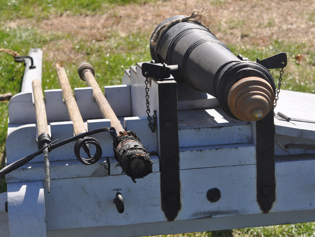 The cannon display after the demonstration. (Credit: Grant Parpan)