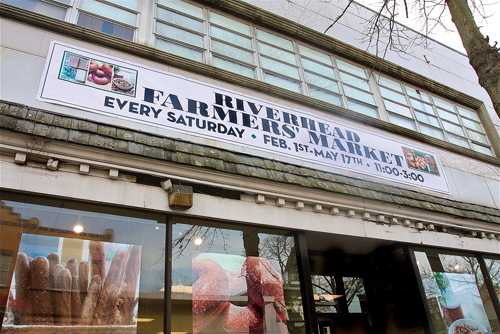 The Riverhead indoor Farmers' Market is located at 117 East Main Street. Barbaraellen Koch photo.