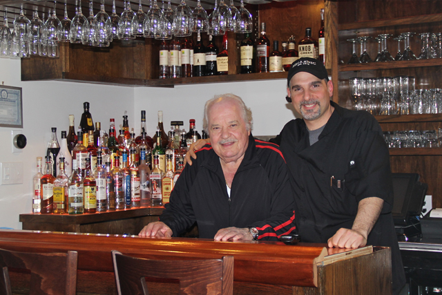 George and John Giannaris at the renovated bar last year. (Credit: Carrie Miller, file)