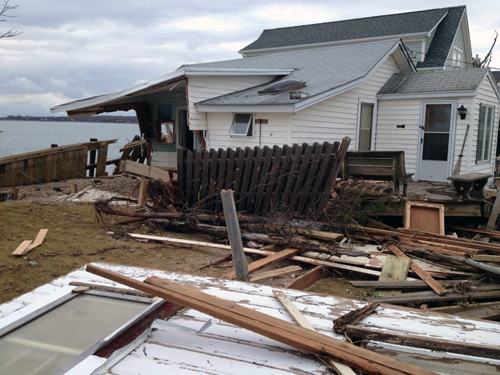 TROY GUSTAVSON FILE PHOTO | Rabbit Lane in East Marion was among the streets hit hardest by Hurricane Sandy on the North Fork.