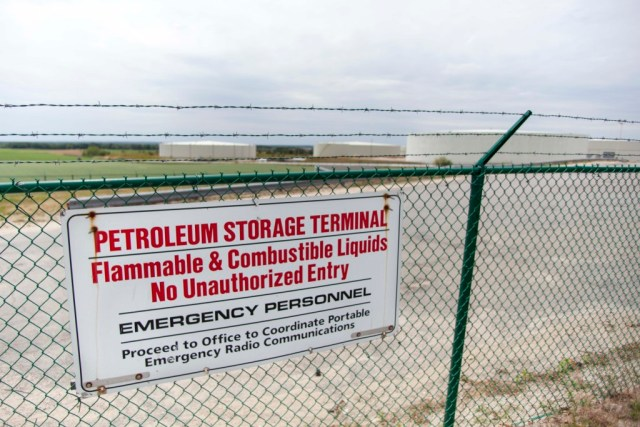 Community groups are fighting to keep the United Riverhead Terminal (above) from expanding to store gasoline and ethanol. (Credit: Chris Lisinski)