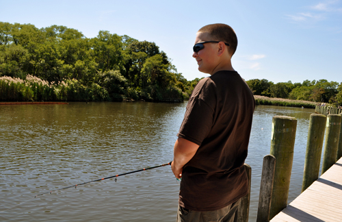 Nick Raynor of Riverhead at last year's snapper tournament. (Credit: Rachel Young, file)