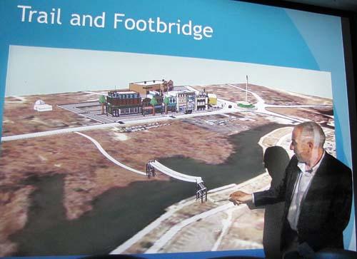 TIM GANNON PHOTO | Legislator Jay Schneiderman presented his vision for Riverside at a civic meeting last week.