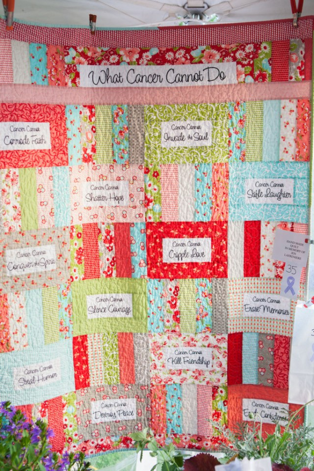 A quilt created in memory of Jen Lafrenere. (Credit: Katharine Schroeder)