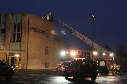 The Riverhead Fire Department firefighters at  (Credit: Jennifer Gustavson)
