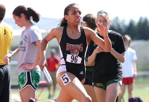 McGann-Mercy graduate Saśa Vann became an All-American today in the 4 x 400 relay at the NCAA Division III Indoor Championships. (Credit: Buffalo State Athletics)