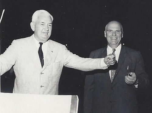 Douglas Moore (left) and Howard Hovey in July 1964. (Credit: courtesy photo)