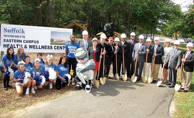 The groundbreaking ceremony for the health and fitness center in September 2015. (Credit: Tim Gannon)