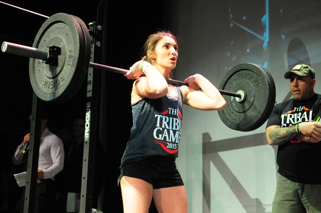 Gianna Pino of Riverhead competes in the Tribal Games Thursday night at the Suffolk Theater. (Credit: Bill Landon)