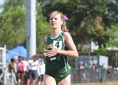 McGann-Mercy sophomore Meg Tuthill finished third in the 800 at Monday's Division II Championship. (Credit: Robert O'Rourk)