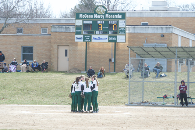 An alumni softball game will be played on the McGann-Mercy field. (Credit: Robert O'Rourk)
