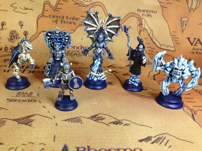 A painted Blue Army (Water) from Loka by River Horse Games