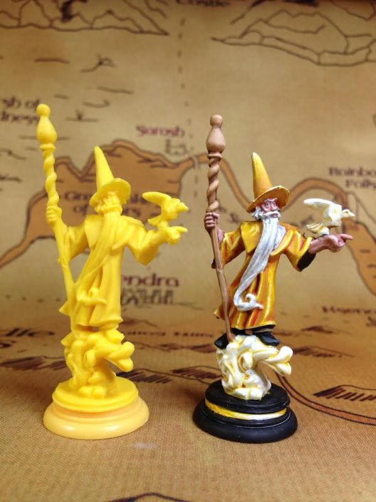 A Yellow (Air) Bishop from Loka the Board Game