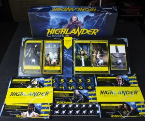 Production sample of Highlander the Board Game by River Horse