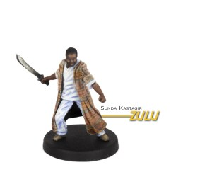 Painted example of Zulu (Modern) from Highlander The Board Game by River Horse