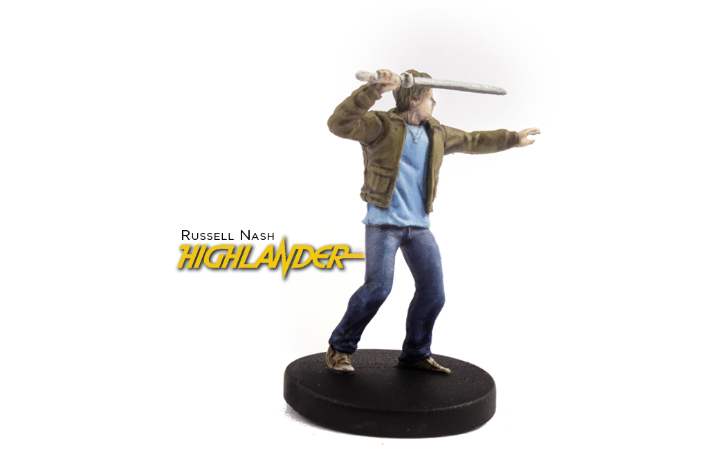 Painted example of Highlander (modern) from Highlander The Board Game by River Horse