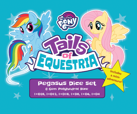 Pegasus Dice set for Tails of Equestria by River Horse Games