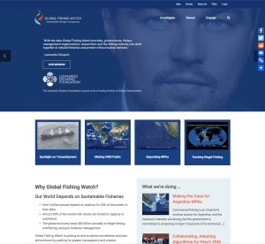 Global Fishing Watch home page screenshot