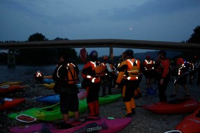 River of Light 2010 - Our wonderful team of River of Light Kayakers (image credit - Laurent Louyer)