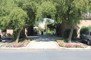 Shaded Breezeway leading to the pool.