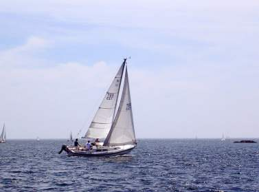Sailboat on The Sheepscot