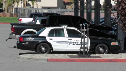 Hemet Police on Scene at WVHS during today's disturbance. Photo Credit: Eddie George