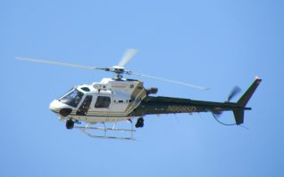 "Riverside Sheriff's ""Star=92"" assisted in the hour-long search, John Strangis photo"