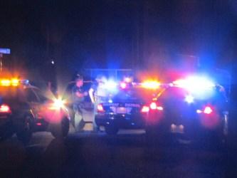 Numerous agencies assisted in taking Barnett into custody. John Strangis photo