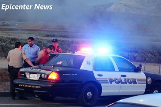 A male sunject was arrested and taken to a local area hospital after the high-speed pursuit. William Hayes / Epicenter News