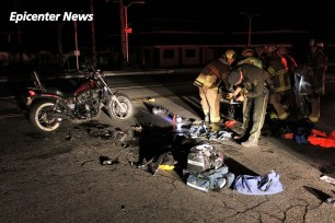 Little information was available regarding the medical status of the downed rider. William Hayes / Epicenter News photo