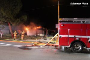 Fire fighters battle a structure fire on Neer in Homeland. William Hayes, Miguel Shannon / Epicenter News photo