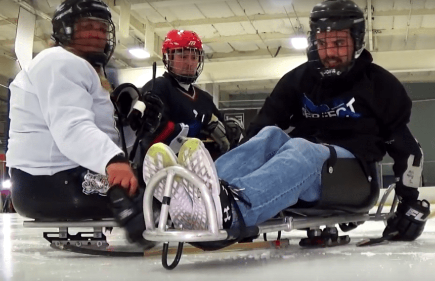 Sled Hockey players can get pretty rough and teams always play to win!
