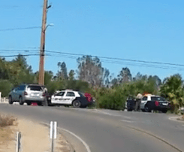 Police activity and presence around the area of Palomar Street and Shay Lane was very heavy for more than five hours. Sheila Urlaub Facebook video screenshot.