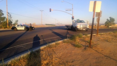 The overpass at Ethanac Road was closed after the alleged suspect told officers there was something inside his vehicle that was going to hurt them. Miguel Shannon photo