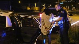 A woman was arrested at the scene of the accident for an as of yet unknown reason. William Hayes photo
