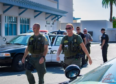Sheriff's deputies assisted Hemet PD officers in recovering the stolen vehicle. John Strangis photo